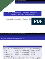 modelos probabilisticos  discretos