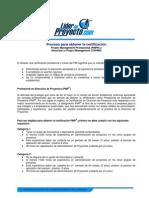 Proceso Para Obtencion Certificacion PMP