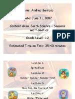 Four Seasons Unit PDF