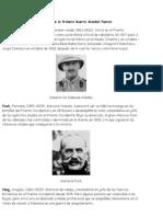 Algunos Personajes Destacados de La Primera Guerra Mundial Fueron