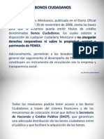 BONOS CIUDADANOS  / ING. RICARDO ESPINOSA RAMOS
