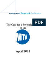 The Case for a Forensic Audit of the MTA