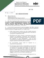 DepED Order No. 4 s. 2011 Graduation Rites