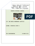 Carpeta de Evidencias de Derecho Procesal Laboral.