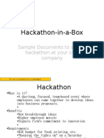 The Hackathon-In-A-Box Discussion Materials and Samples
