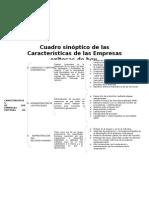 Características de las empresas exitosas de hoy - Cuadro sinóptico