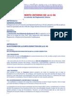 Reglamento Interno 2011 (Texto extraido del Reglamento Interno)