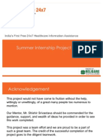 Summer Internship Project Report HealthLine24X7