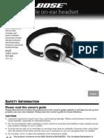 Bose Cell Phone Adaptor Manual