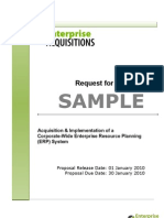 Request for Proposal RFP SAMPLE EnterpriseAcquisitions[1]