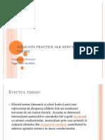 Aplicatii Practice Ale Efectului Termic