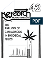 Alalysis of Cannabinoides in body fluids