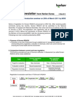2011.03.31 K-REACH Newsletter From Harlan Korea