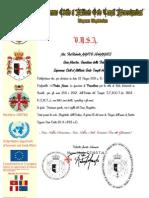 Certificato Precettoria Belo Horizonte