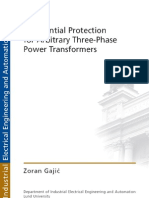 Diffentian Transformer Protection
