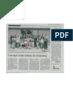 LOS QUE MÁS SABEN DE HISTORIA. Reseña en ABC de nuestro Proyecto de Innovación