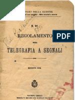 Regolamento sulla telegrafia a segnali - 1912