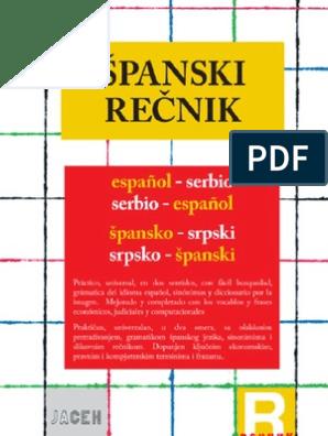 špansko Srpski Rečnik
