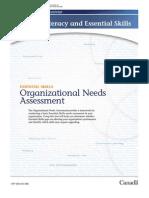 Organizational Needs Assesment