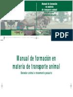 Manual de formación en materia de transporte animal. Benestar animal e movemento pecuario