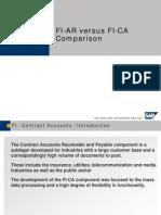 SAP Comparison of FI-AR vs FI-CA