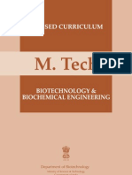 M.tech Biotechnology and Biochemical Engineering