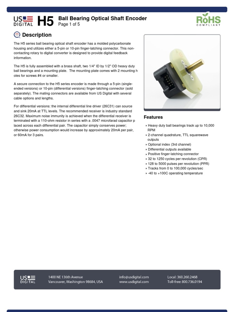 119 h5 Datasheet 1 | Electrical Connector | Cable