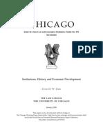Institutions, History and Economic Development