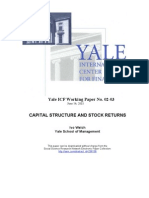 Capital Structure and Stock Returns