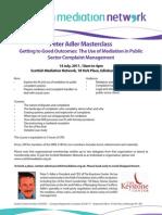 Peter Adler Master Class July 2011