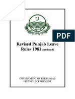 Revised Punjab Leave Rules 1981 Updated