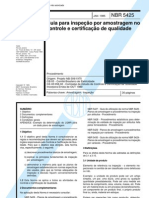 NBR 5425 - Guia Para Inspecao Por em No Controle E Certificacao de Qualidade