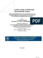 Bioavailability Study of Metformin
