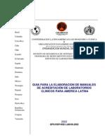 Guia Para La Elaboracion de Manuales de Acreditacion de Lab Oratorios Clinicos Para America Latina
