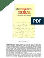 941929 Constant In Noica Despre Lautarism Humanitas 2007