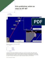 Relatório preliminar Voo AF447