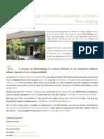 Communiqué de Presse - L'Hôt'Berge rejoint les chambres d'hôtes BioLodging