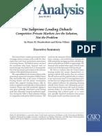 The Subprime Lending Debacle