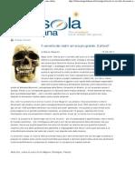 Marco Respinti, «Il cervello dei nostri avi era più grande. E allora?», in «La Bussola Quotidiana» [www.labussolaquotidiana.it], Milano 15-06-2011