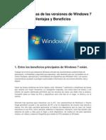 Características de las versiones de Windows 7