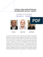 Ali Ansari, Roger Cohen and Scott Peterson