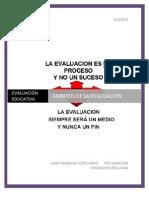 Ámbitos de la evaluación
