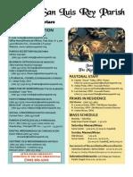 MSLRP Bulletin for June 19, 2011