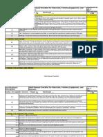 CX OM Manual Checklist