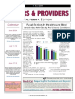 Payers & Providers California Edition – Issue of June 16, 2011