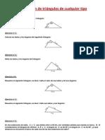 Resolucion de Triangulos Cualesquiera