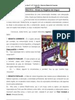 Ficha Informativa Registos de Lingua