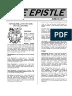 June 2011 Epistle