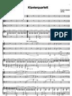 Mahler Klavierquartett 1stmovement Piano Parts