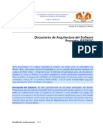 Documento de Arquitectura Del Software
